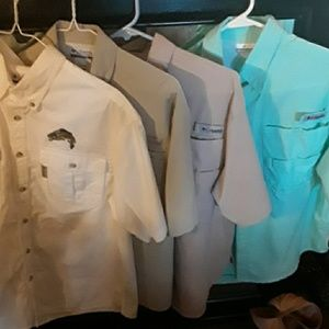 Men's Columbia PFG  4 Shirt bundle ,Sz S